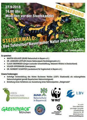 Kundegebung Steigerwald 27. Sept 2018 In München